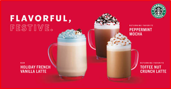 Featured image for Starbucks holiday seasonal flavours are back from 5 November 2019