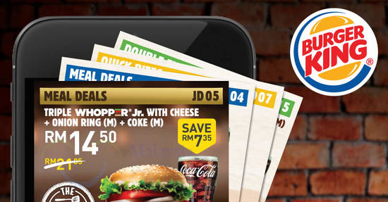 Featured image for Burger King: Save BIG with the latest BK e-coupons valid till 12 January 2020