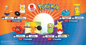 McDonald's latest Happy Meal toys features Pokemon toys till 1 Jan 2020