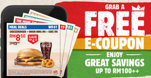 Burger King: Save BIG with the latest e-coupon deals valid 10th Jan 2020 – 7th Feb 2020