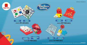 Featured image for McDonald's latest Happy Meal toys features Hasbro Gaming till 26 February 2020