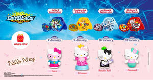 McDonald's latest Happy Meal toys features Beyblade and Hello Kitty till 29 Jan 2020