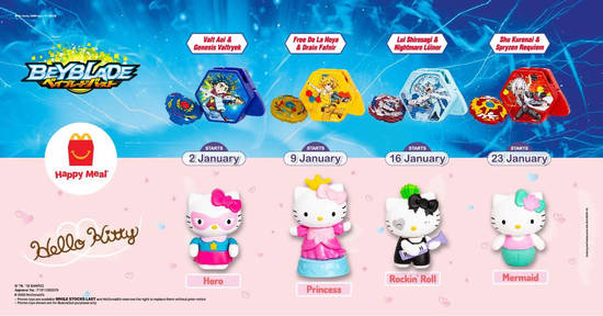 Featured image for McDonald's latest Happy Meal toys features Beyblade and Hello Kitty till 29 Jan 2020