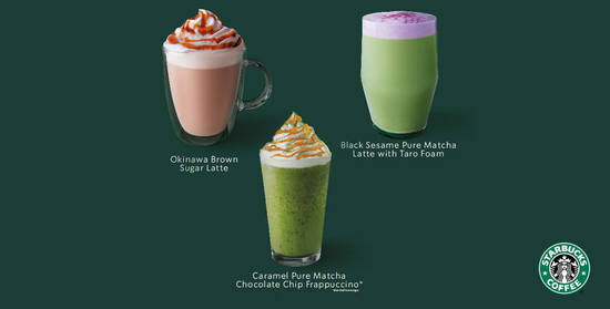 Featured image for Indulge Your Senses in Pure Japanese Matcha with Starbucks new winter beverages (from 7 Jan)