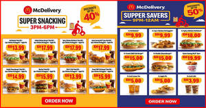 McDelivery is giving up to 50% off when you order from 3pm-6pm and 9pm-12am daily till 12 Feb 2020