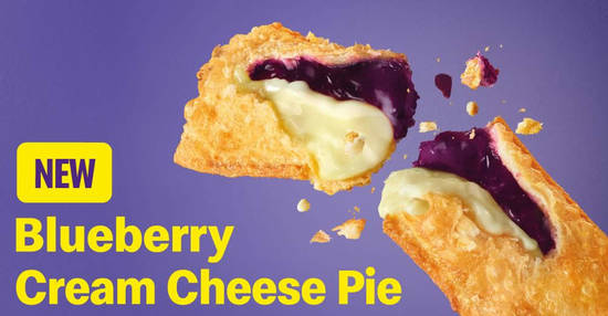Featured image for Check out the latest arrivals at McDonald's - Blueberry Desserts, Blueberry Cream Cheese Pie & McDip (From 2 Mar '20)