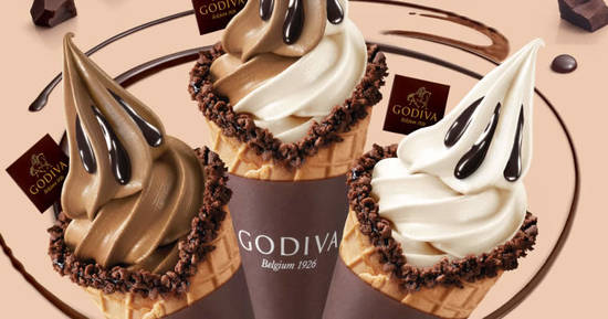 Featured image for Godiva: 50% off all soft serves and pastries on 17 March 2020