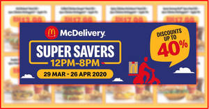 Super Savers with Contactless McDelivery till 26 April 2020