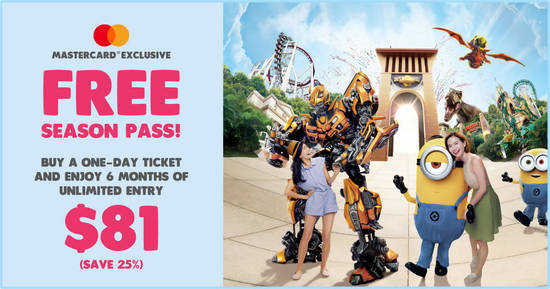 Featured image for Universal Studios S'pore is giving away free 6 months unlimited entry when you buy a one-day ticket (Till 12 April 2020)