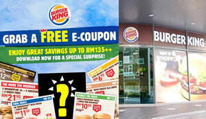 Burger King is back with awesome coupon deals valid from 15th May till 14th June 2020