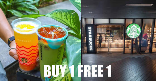 Featured image for Starbucks M'sia is offering Buy-1-FREE-1 on any selected promotional beverages on 30 June 2020