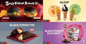 Featured image for McDonald's: Spicy Korean Burger is back with two Daebak choices along with NEW Black Forest McFlurry and more (From 15 July 2020)
