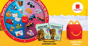McDonald's: Missed out on Rilakkuma, Thomas & Friends, Monster Jam and Cutie Cars the last time round? They're back.