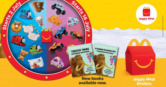 Featured image for McDonald's: Missed out on Rilakkuma, Thomas & Friends, Monster Jam and Cutie Cars the last time round? They're back.