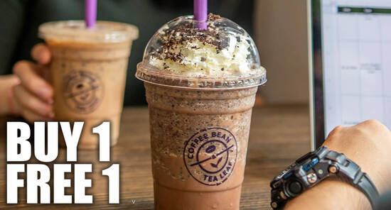 Featured image for The Coffee Bean & Tea Leaf has a Buy-1-FREE-1 promotion till 10 July 2020