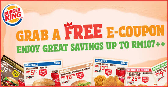 Featured image for Here are 20 NEW Burger King coupons you can use till 17th September 2020