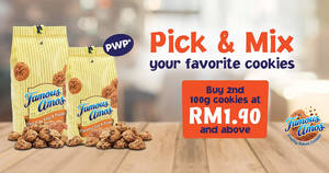Featured image for Famous Amos: Pick & Mix promo – Pick & Mix Your Favorite Cookies from 1st August until 24th August 2020