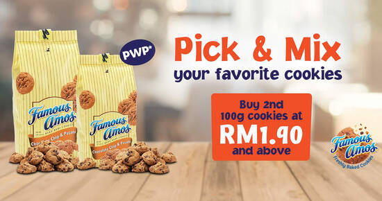 Featured image for Famous Amos: Pick & Mix promo - Pick & Mix Your Favorite Cookies from 1st August until 24th August 2020
