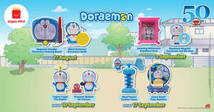 McDonald's now offers Doremon toys FREE with purchase of a Happy Meal till 23 September 2020