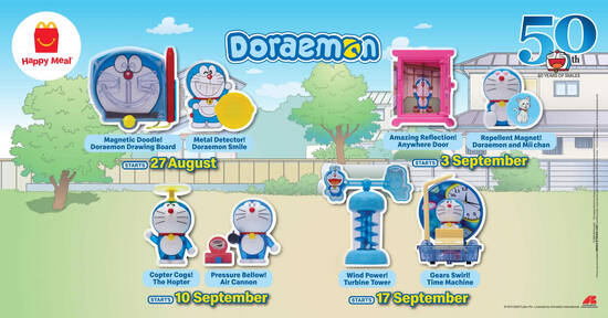 Featured image for McDonald's now offers Doremon toys FREE with purchase of a Happy Meal till 23 September 2020