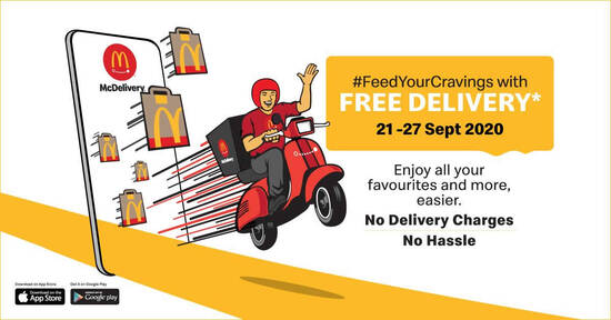 Featured image for McDelivery FREE Delivery Promo from 21 - 27 September 2020