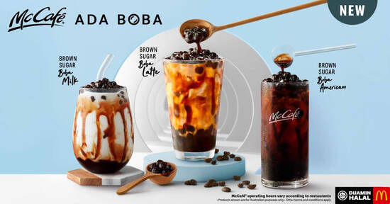 Featured image for McDonald's: NEW Brown Sugar Boba Latte, Brown Sugar Boba Milk or Brown Sugar Boba Americano (From 3 Sep 2020)