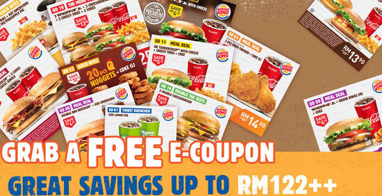 Featured image for Burger King releases 20 NEW Burger King coupons you can flash to redeem till 18 November 2020