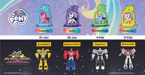 Featured image for McDonald's: FREE My Little Pony & Transformers toy with purchase of a Happy Meal till 17 Feb 2021