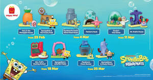 McDonald's latest Happy Meals now comes with a SpongeBob SquarePants toy FREE! Till 31 March 2021