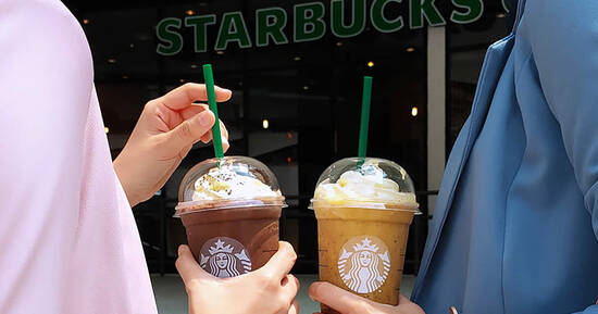 Featured image for Starbucks: Get the second beverage at only RM8 with purchase of a Frappuccino on 8 March 2021