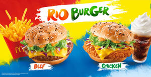 Featured image for McDonald's M'sia launches new menu items: Omelette Sandwiches, Rio Burger & Fruity Desserts from 31 May 2021