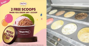 Featured image for Haagen-Dazs M'sia cafes will be offering 2 FREE scoops when you buy 1 scoop on 18 July 2021
