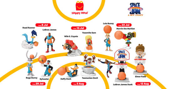 Featured image for McDonald's M'sia latest Happy Meals now comes with a Space Jam toy FREE till 18 Aug 2021