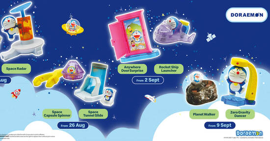 Featured image for McDonald's M'sia latest Happy Meal now comes with a Doraemon toy FREE till 15 Sep 2021
