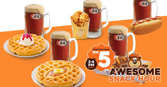 Featured image for A&W Malaysia is offering their popular items with regular root beer from RM5! (From 7 Sep 2021)