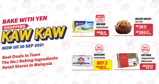 Featured image for ShoppingKawKaw with Bake With Yen till 30 Sep 2021