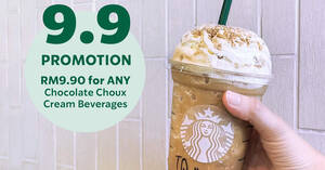 Featured image for Starbucks M'sia will be offering RM9.90 Chocolate Choux Cream beverages all-day on Thurs, 9 Sep 2021