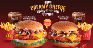 Featured image for McDonald's launches new Creamy Cheese Spicy Chicken Burger in Malaysia from 7 Oct 2021