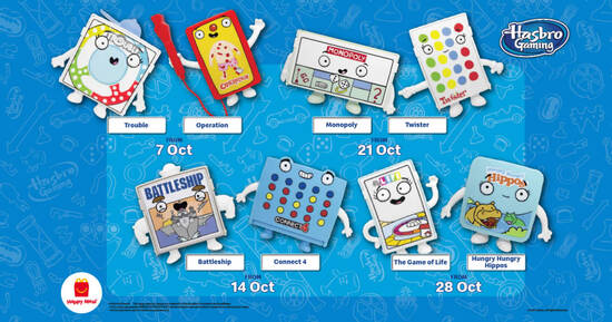 McDonald's latest Happy Meal now comes with a FREE Hasbro classic family game toy till 3 Nov 2021