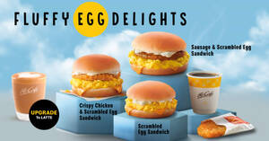 Featured image for Scrambled Egg Sandwiches are back at McDonald's M'sia (From 21 Oct 2021)